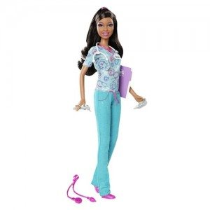 01. Barbie I Can BeGǪ Nurse African American (2012)