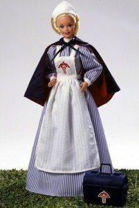 7. Civil War Nurse Barbie (1996)