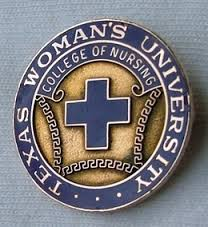 Texas Woman's University College of Nursing wall plaque